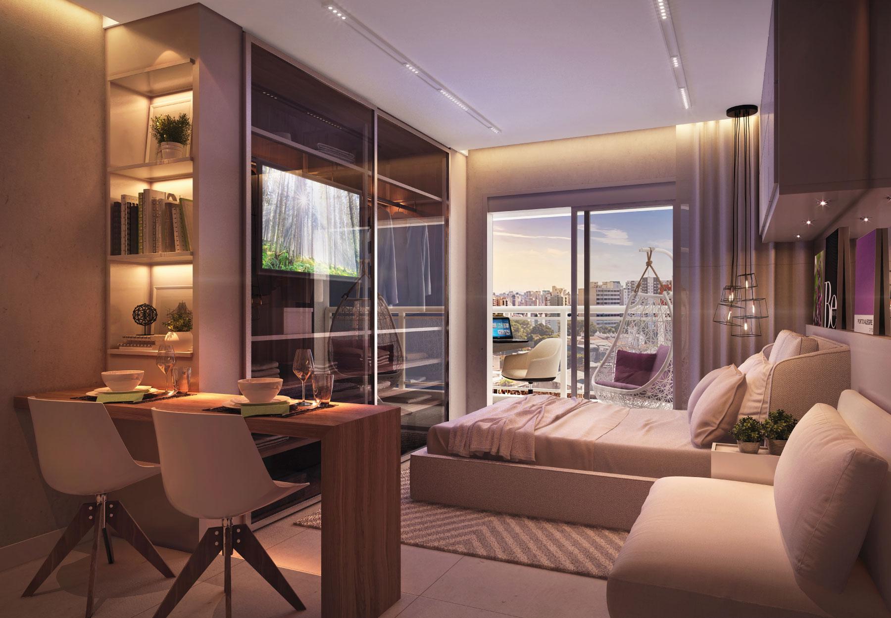 Conheça as vantagens de morar em um apartamento Studio